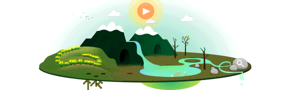 Interaktives Google Doodle zum Tag der Erde (22.April 2013)