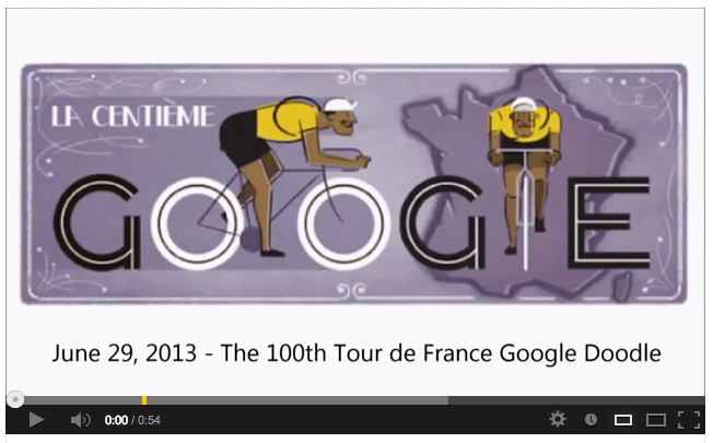 Tour de France 2013 - Google Doodle (Video)